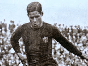 Ángel Arocha con la camiseta del Barcelona / Mundo Gráfico