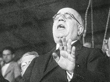 Manuel Azaña en un acto público antes de la Guerra Civil