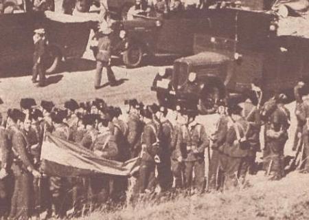 Guardias civiles en la sierra de Guadarrama