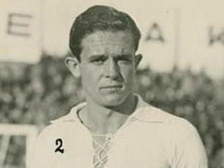 Sauto con la camiseta del Real Madrid en 1936