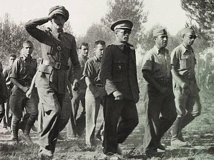 Varios militares del Ejército Popular. En concreto de la 30 División. Foto de Francisco Boix
