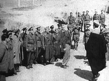 Rendición de Madrid el 28 de marzo de 1939 en Ciudad Universitaria