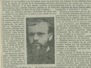 Artículo en la prensa republicana sobre Salvador de Híjar