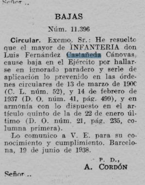 BAJA EJERCITO 1938
