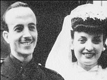 Julio Iglesias Puga el día de su boda, años después de la Guerra Civil