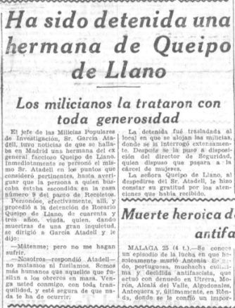 25 SEPTIEMBRE ROSARIO QUEIPO DE LLANO