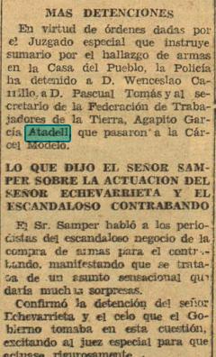 ATADELL DETENIDO 1934