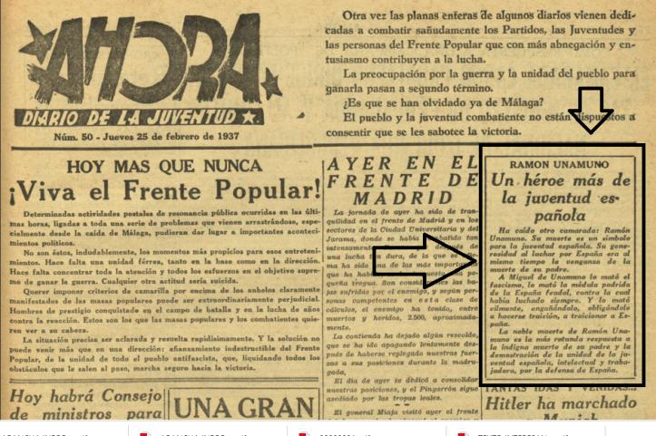 PERIODICO AHORA 25 FEBRERO 1937