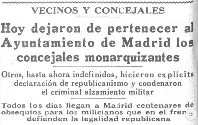 CONCEJALES MONARQUICOS. 14 AGOSTO 36