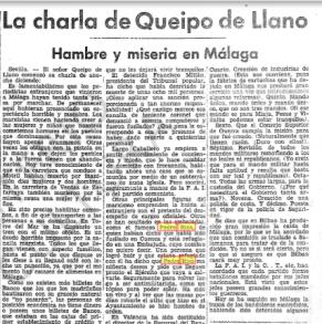 EL PROGRESO. 14 FEB 1937. DISCURSO QUEIPO
