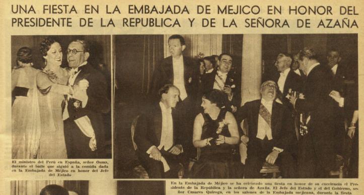 FIESTA EN LA EMBAJADA DE MEXICO 1936 JUNIO