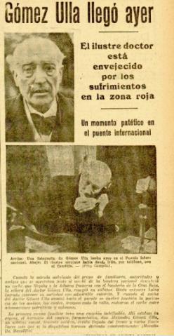 LA VOZ DE ESPAÑA. 25 NOV 1938
