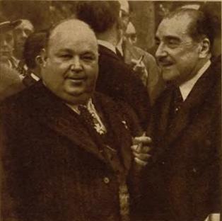 PEDRO RICO CON ENCARGADO NEGOCIOS CUBA EN 1936