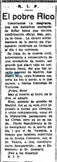 PEDRO RICO LA LIBERTAD 11 FEBRERO 1937